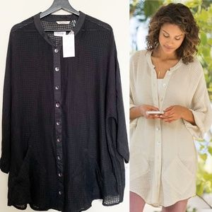 NWT SOFT SURROUNDINGS Sevilla Shirt Tunic Cover Up